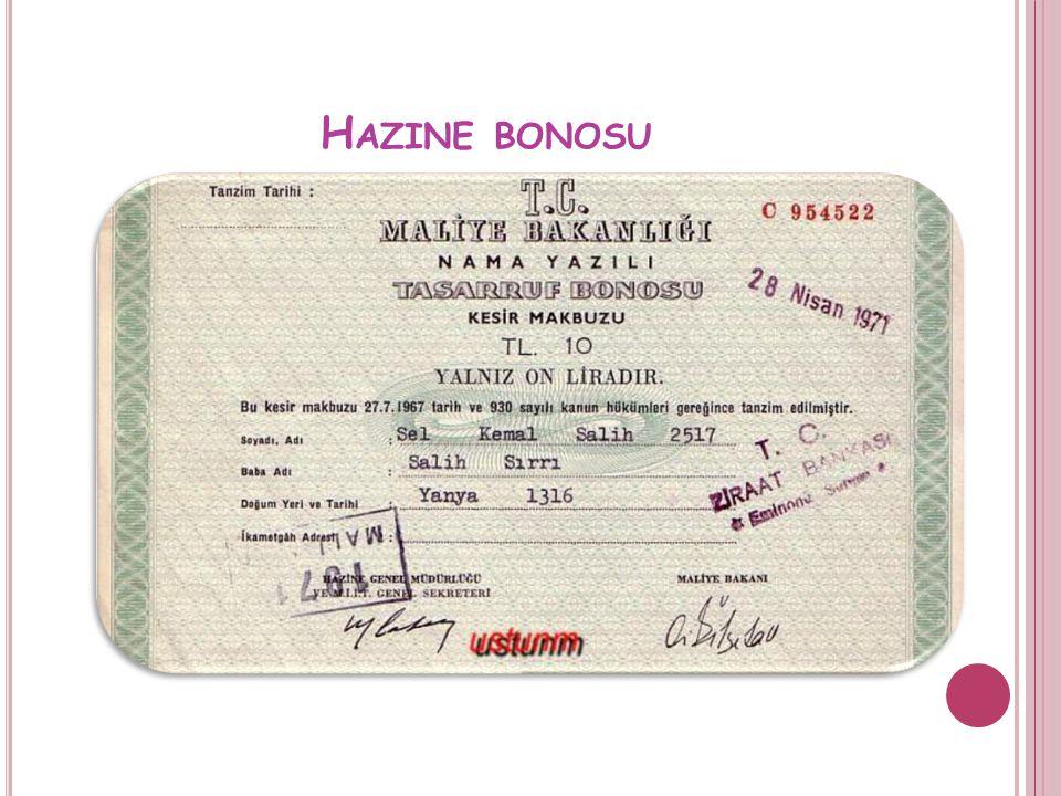 H AZINE BONOSU