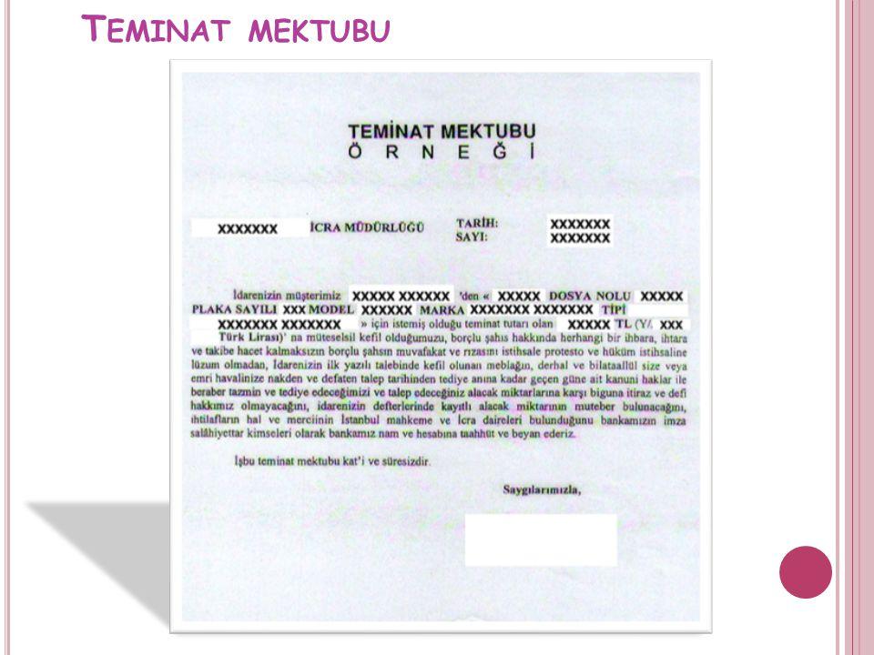 T EMINAT MEKTUBU