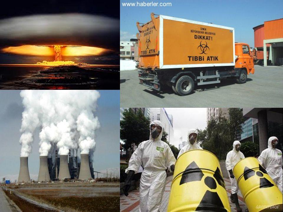 RADYOAKTIF ATIĞIN OLUŞUMU 14 Yakıt tekrar işleme tesisleri Nükleer silahların işlenmesi Araştırma merkezleri Tıp Endüstriyel uygulamalar