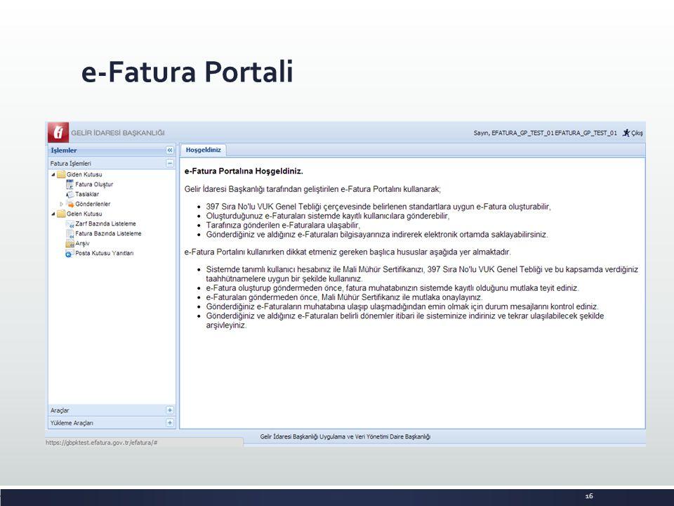 e-Fatura Portali 16