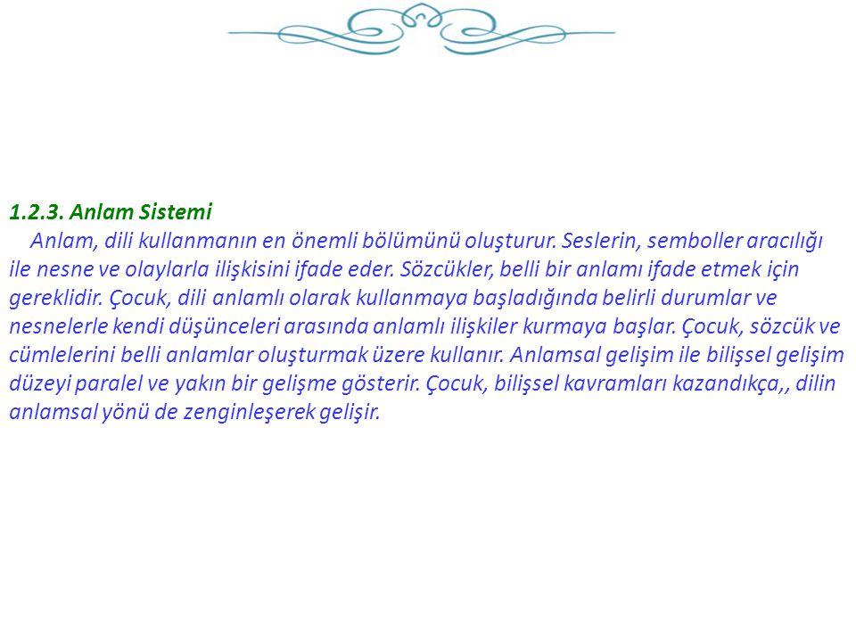 Türkçe dil etkinliğinde, Şiir, bilmece, tekerleme, parmak oyunu, hikâye anlatma etkinlikleri dil gelişimini destekler.