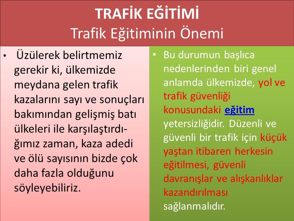 www.cemalsahin.comwww.cemalsahin.co m 9 TRAFİK EĞİTİMİ Trafik Eğitiminin Önemi Üzülerek belirtmemiz gerekir ki, ülkemizde meydana gelen trafik kazalar