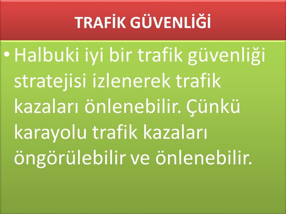 www.cemalsahin.comwww.cemalsahin.co m 95 TRAFİK GÜVENLİĞİ Halbuki iyi bir trafik güvenliği stratejisi izlenerek trafik kazaları önlenebilir. Çünkü kar
