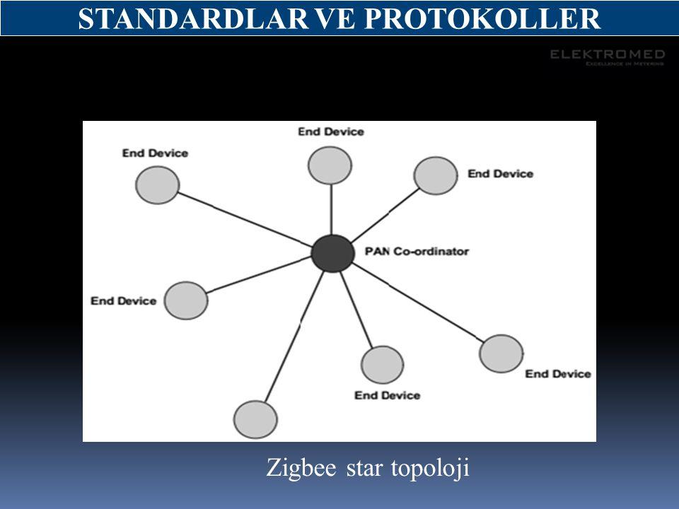 Zigbee star topoloji STANDARDLAR VE PROTOKOLLER