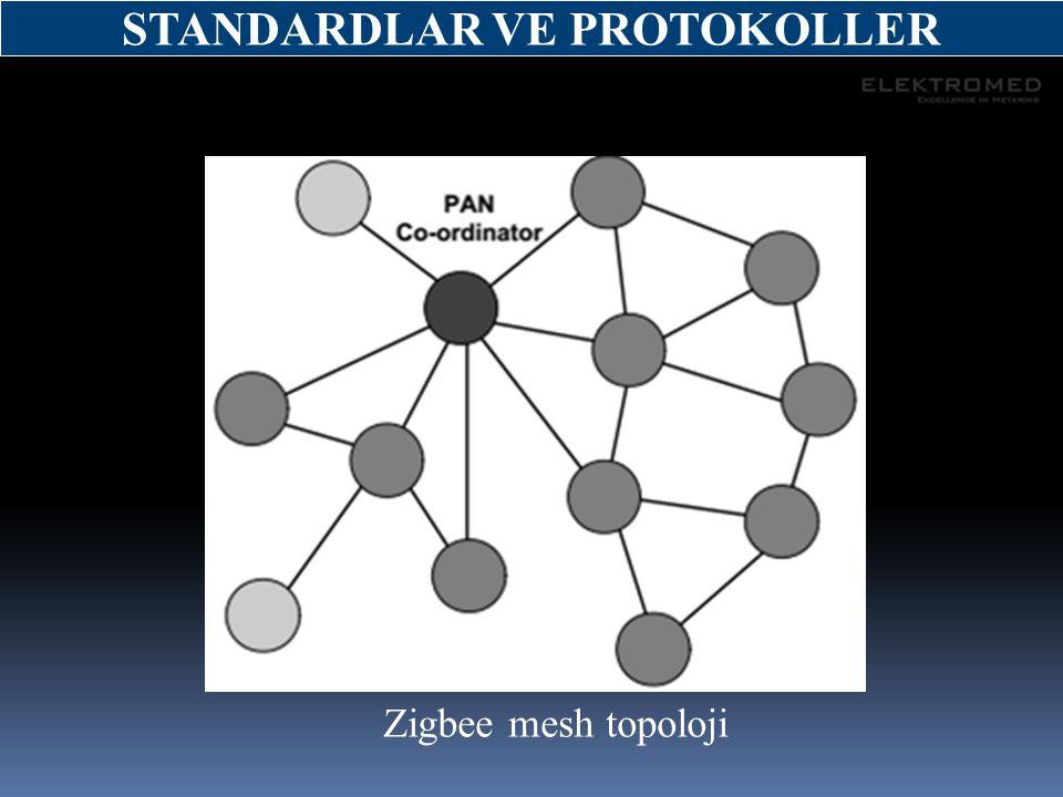 Zigbee mesh topoloji STANDARDLAR VE PROTOKOLLER