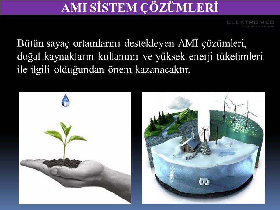Bütün sayaç ortamlarını destekleyen AMI çözümleri, doğal kaynakların kullanımı ve yüksek enerji tüketimleri ile ilgili olduğundan önem kazanacaktır. A