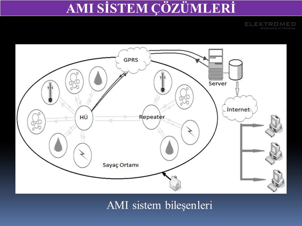 AMI sistem bileşenleri AMI SİSTEM ÇÖZÜMLERİ