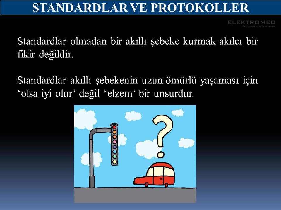 Standardlar olmadan bir akıllı şebeke kurmak akılcı bir fikir değildir. Standardlar akıllı şebekenin uzun ömürlü yaşaması için 'olsa iyi olur' değil '