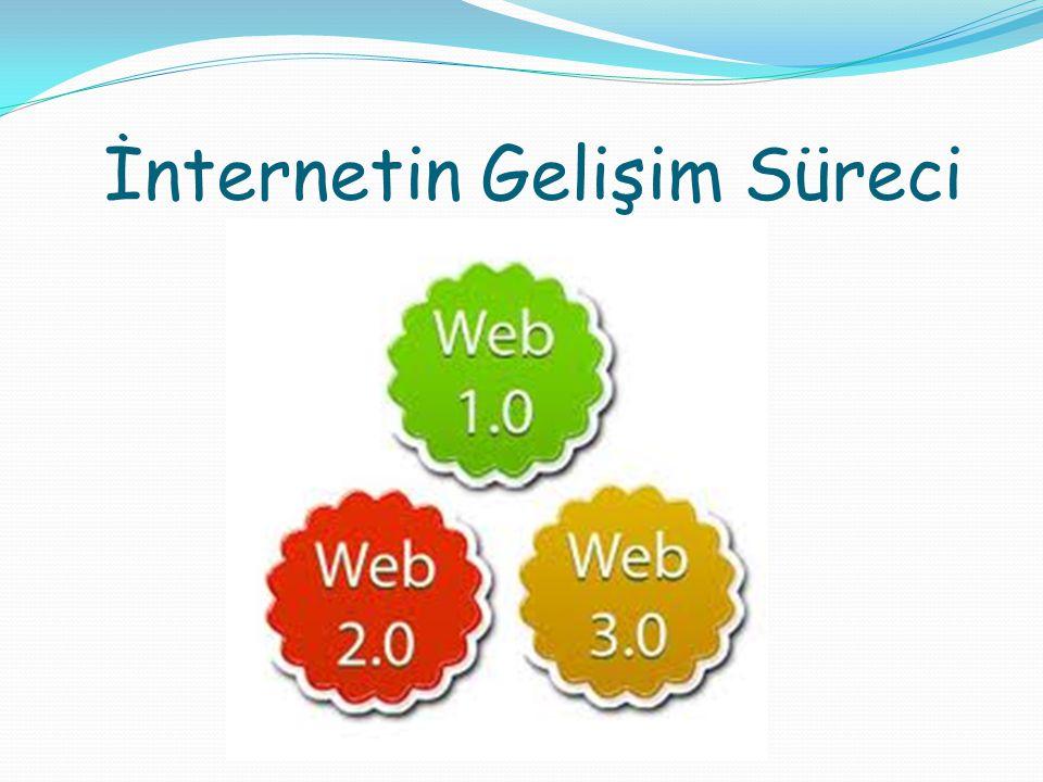 WEB 1.0 İnternet kullanıcılarının, sitede sunulan içeriklerden başka herhangi bir bilgi elde edemedikleri ve kullanıcılar, arasında bilgi paylaşımının olmadığı sitelerdir.