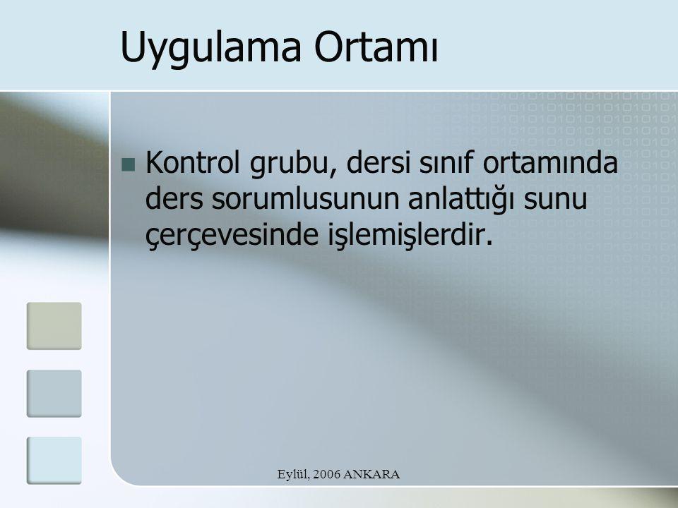 Eylül, 2006 ANKARA TEŞEKKÜRLER….Araş. Gör. Gonca Kızılkaya (gkizil@hacettepe.edu.tr) Araş.