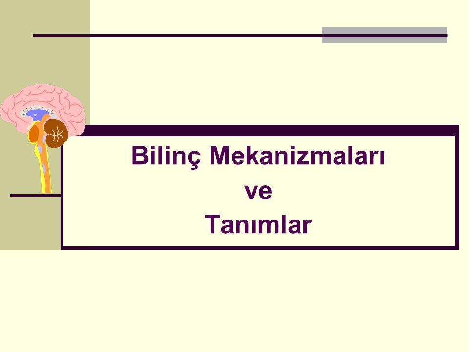 İstanbul, Kasım 2011 Bilinç Asendan retiküler aktive edici sistem (ARAS) Sentral tegmental fasikül Direkt afferent sistemler (raphe nucleus, locus ceruleus, parabrachialis)