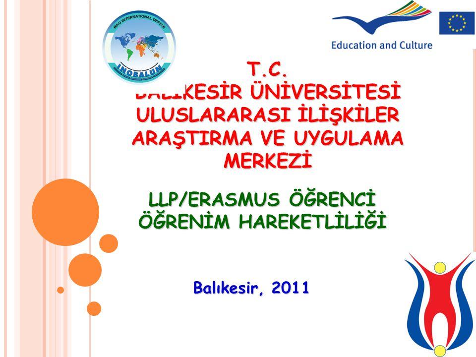 Uluslararası İlişkiler Araştırma ve Uygulama Merkezi Balıkesir Üniversitesi Rektörlük Binası, 6.