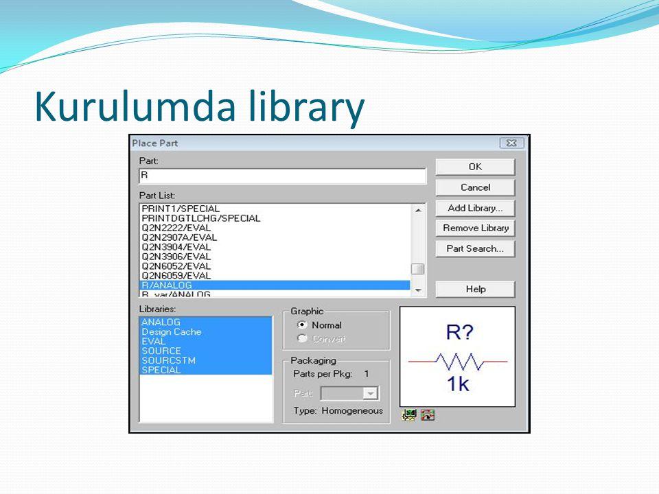 Kurulumda library