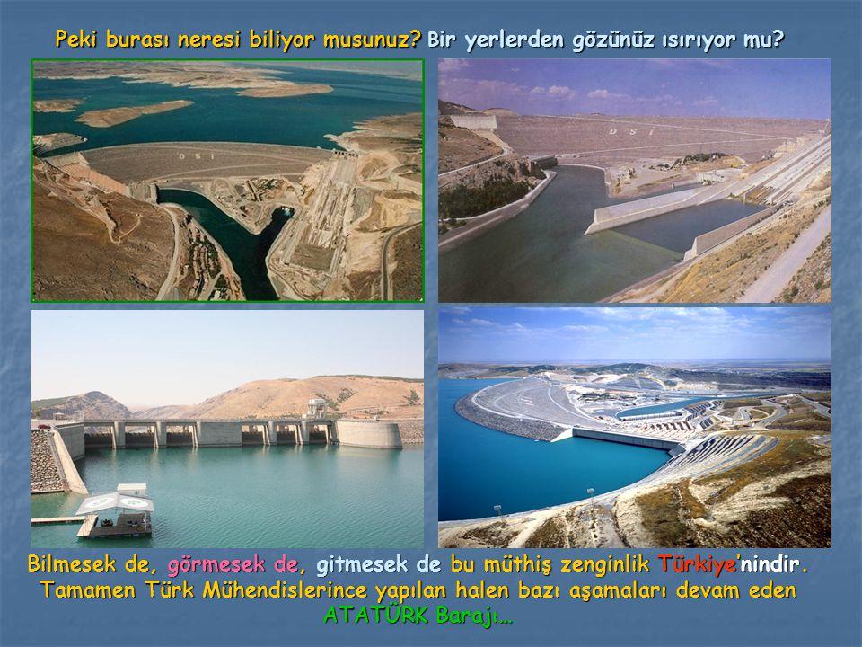 Peki burası neresi biliyor musunuz? B ir yerlerden gözünüz ısırıyor mu? Bilmesek de, görmesek de, gitmesek de bu müthiş zenginlik Türkiye'nindir. Tama