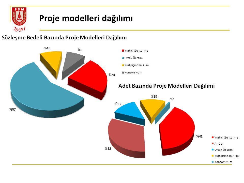 Proje modelleri dağılımı