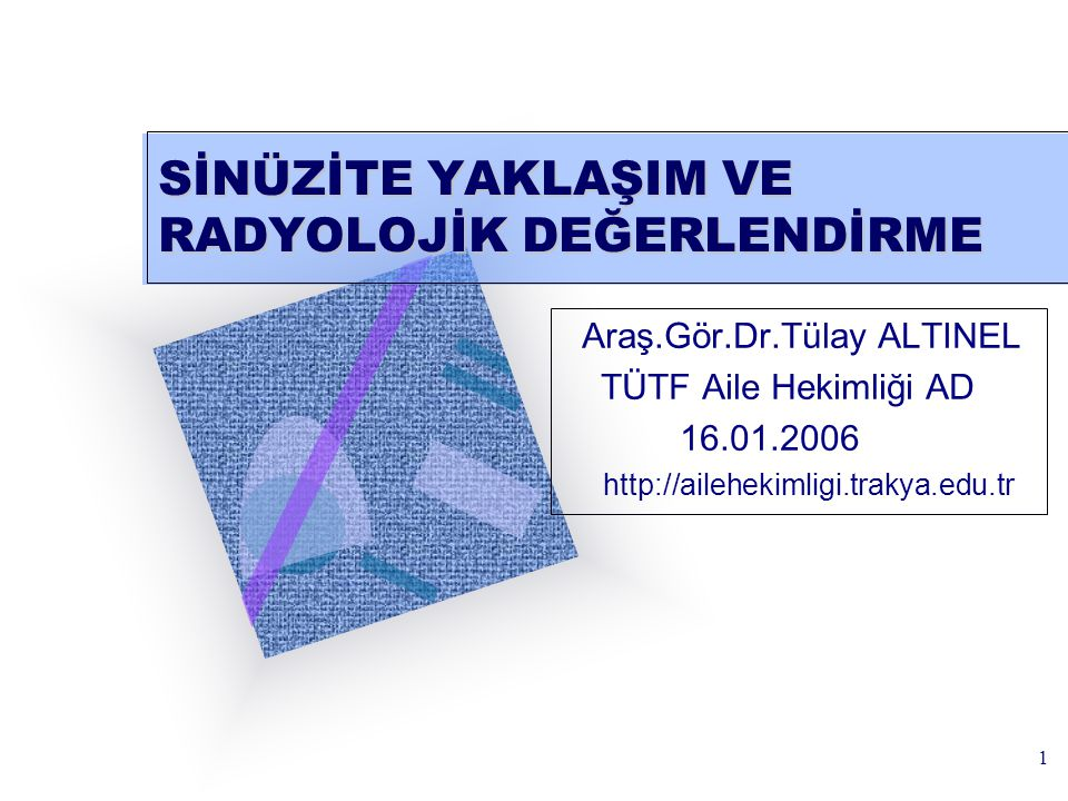 2 AMAÇ Katılımcıların sinüzit hakkında ve sinüzitin radyolojik değerlendirilmesi konusunda bilgilendirilmeleri amaçlanmıştır.