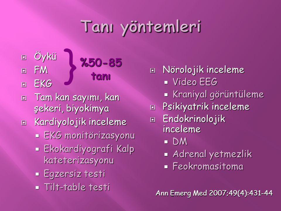  Öykü  FM  EKG  Tam kan sayımı, kan şekeri, biyokimya  Kardiyolojik inceleme  EKG monitörizasyonu  Ekokardiyografi Kalp kateterizasyonu  Egzer