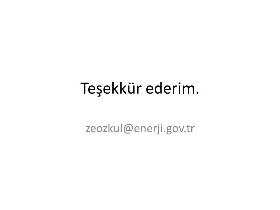 Teşekkür ederim. zeozkul@enerji.gov.tr