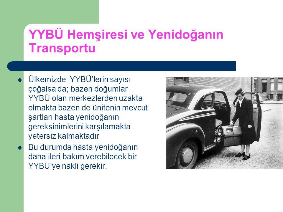YYBÜ Hemşiresi ve Yenidoğanın Transportu Ülkemizde YYBÜ'lerin sayısı çoğalsa da; bazen doğumlar YYBÜ olan merkezlerden uzakta olmakta bazen de üniteni