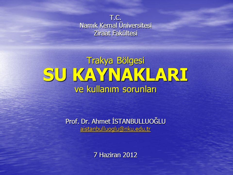 Konu Başlıkları Suyun Önemi Suyun Önemi Dünya'da Su Dünya'da Su Türkiye'de Su Türkiye'de Su Trakya Bölgesi'nde Su Trakya Bölgesi'nde Su Çeltik Alanlarında Su Çeltik Alanlarında Su Bitirirken Bitirirken