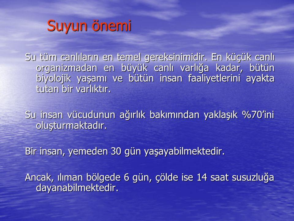 Türkiye'de su Türkiye, 26 büyük akarsu havzasından meydana gelmiştir.