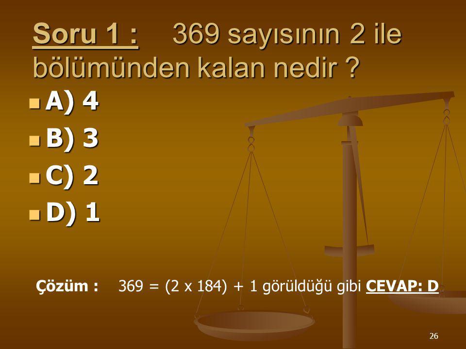 25 İZLEME TESTİ