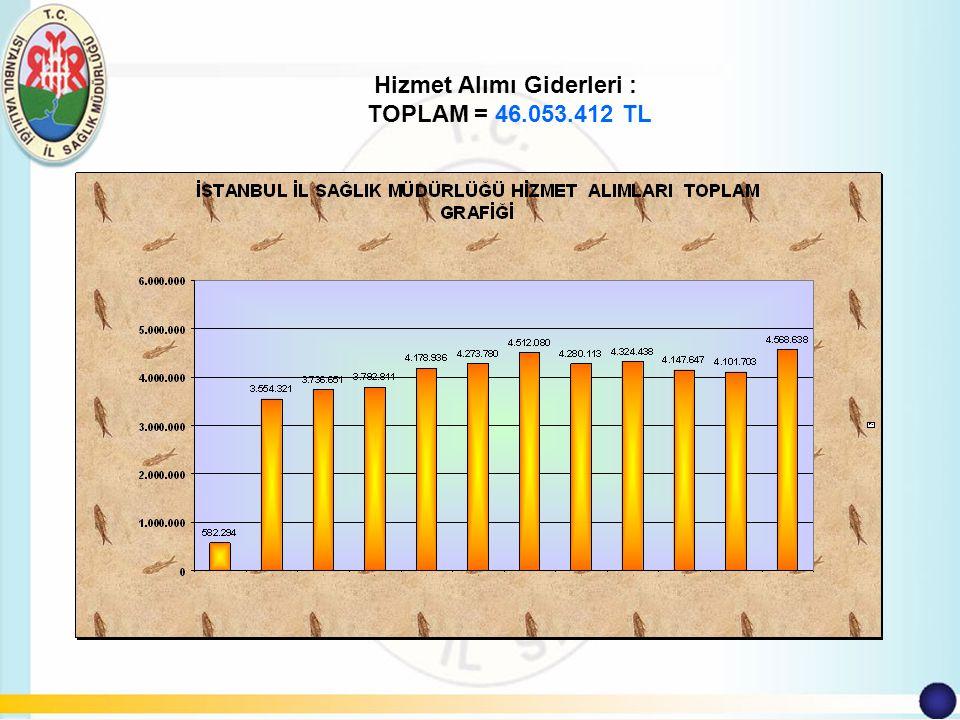 Hizmet Alımı Giderleri : TOPLAM = 46.053.412 TL
