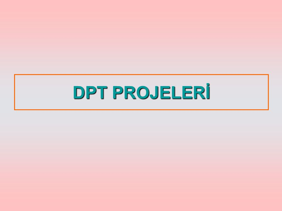 DPT PROJELERİ