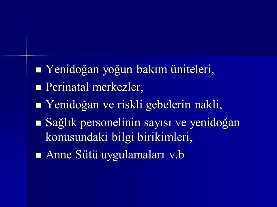 Yenidoğan yoğun bakım üniteleri, Yenidoğan yoğun bakım üniteleri, Perinatal merkezler, Perinatal merkezler, Yenidoğan ve riskli gebelerin nakli, Yenid