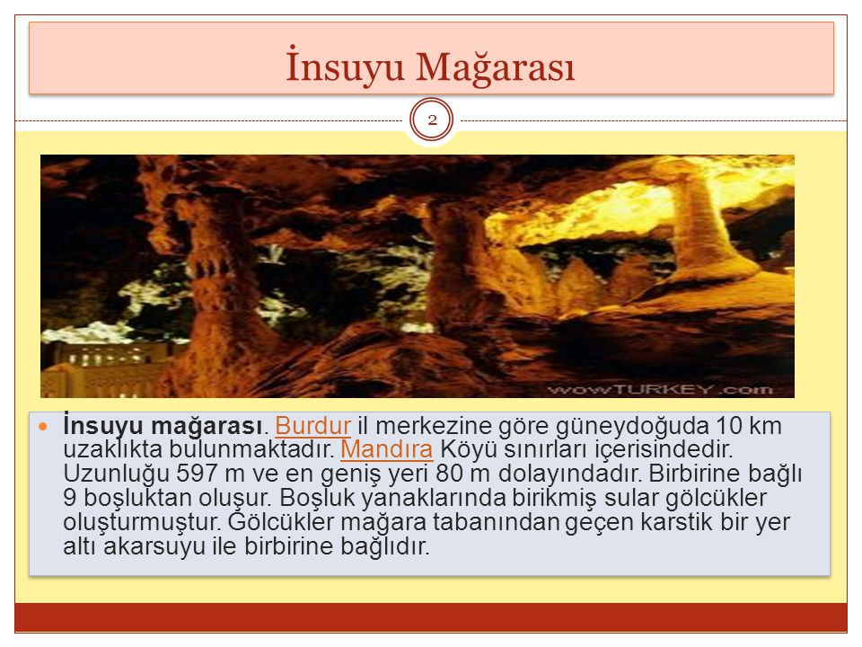 İnsuyu Mağarası İnsuyu mağarası.