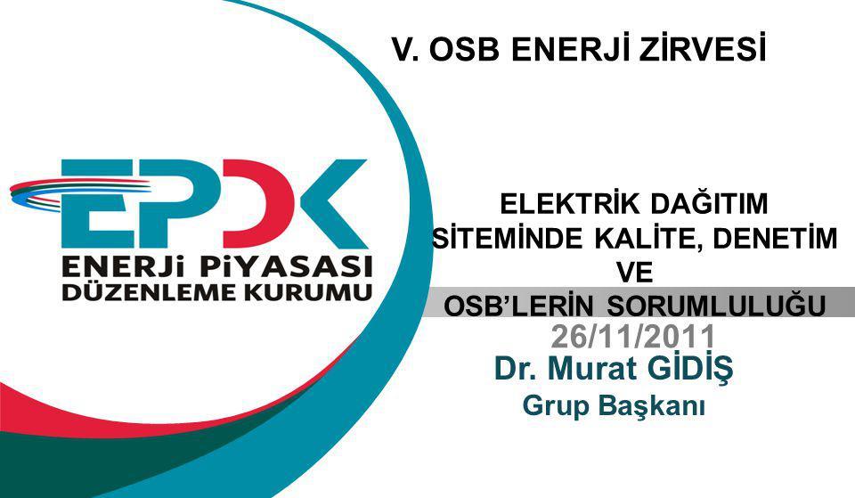26/11/2011 Dr.Murat GİDİŞ Grup Başkanı V.