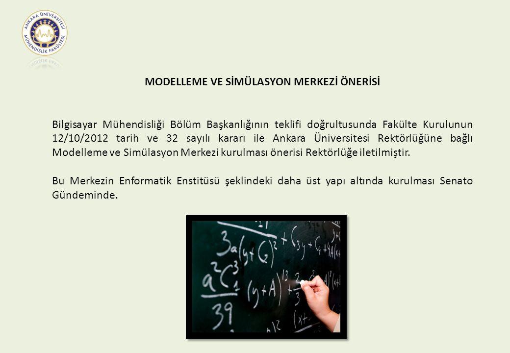 MODELLEME VE SİMÜLASYON MERKEZİ ÖNERİSİ Bilgisayar Mühendisliği Bölüm Başkanlığının teklifi doğrultusunda Fakülte Kurulunun 12/10/2012 tarih ve 32 say