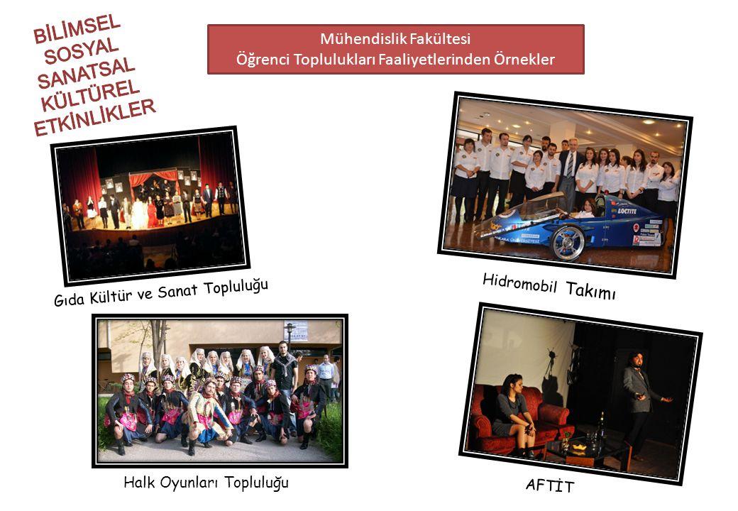 Mühendislik Fakültesi Öğrenci Toplulukları Faaliyetlerinden Örnekler Hidromobil Takımı Gıda Kültür ve Sanat Topluluğu Halk Oyunları Topluluğu AFTİT