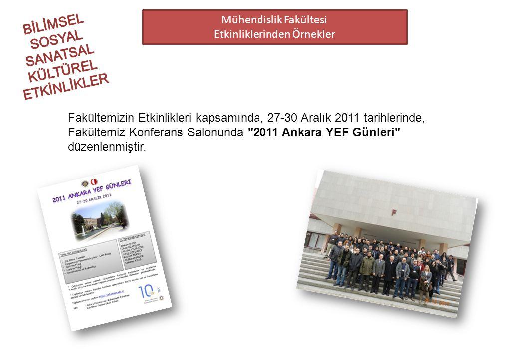 Mühendislik Fakültesi Etkinliklerinden Örnekler Fakültemizin Etkinlikleri kapsamında, 27-30 Aralık 2011 tarihlerinde, Fakültemiz Konferans Salonunda