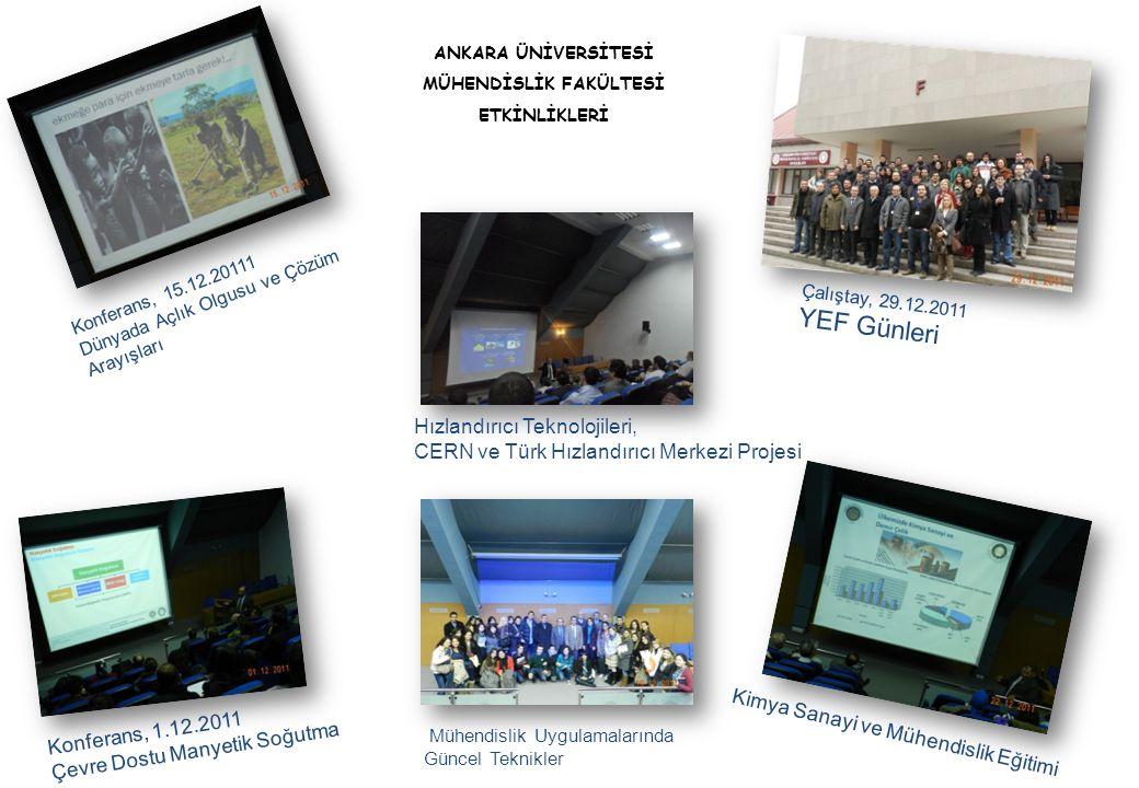 Konferans, 15.12.20111 Dünyada Açlık Olgusu ve Çözüm Arayışları ANKARA ÜNİVERSİTESİ MÜHENDİSLİK FAKÜLTESİ ETKİNLİKLERİ Konferans, 1.12.2011 Çevre Dost
