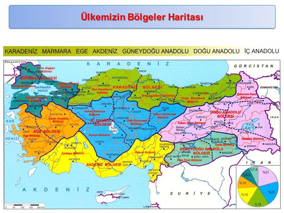 Ülkemizin Bölgeler Haritası