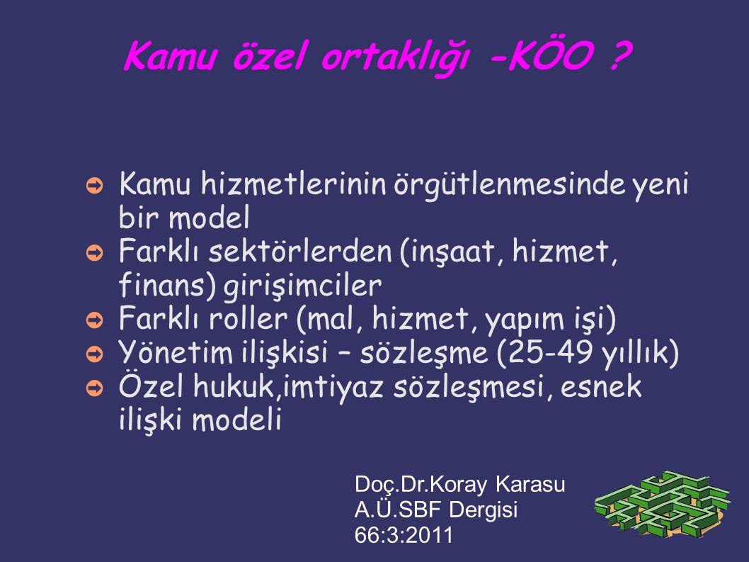 KÖO-ESK-Maliyet/kira süre maliyet kira kontrat Kayseri: 3.5 yıl 427.5 M 137.7 M 25 yıl Etlik: 319 M Bilkent: 289 M Toplam 3 ESK, 25 yıl kira ödemesi: ~ 18.6 milyar TL SB 2012 bütçesi + 4 milyar TL