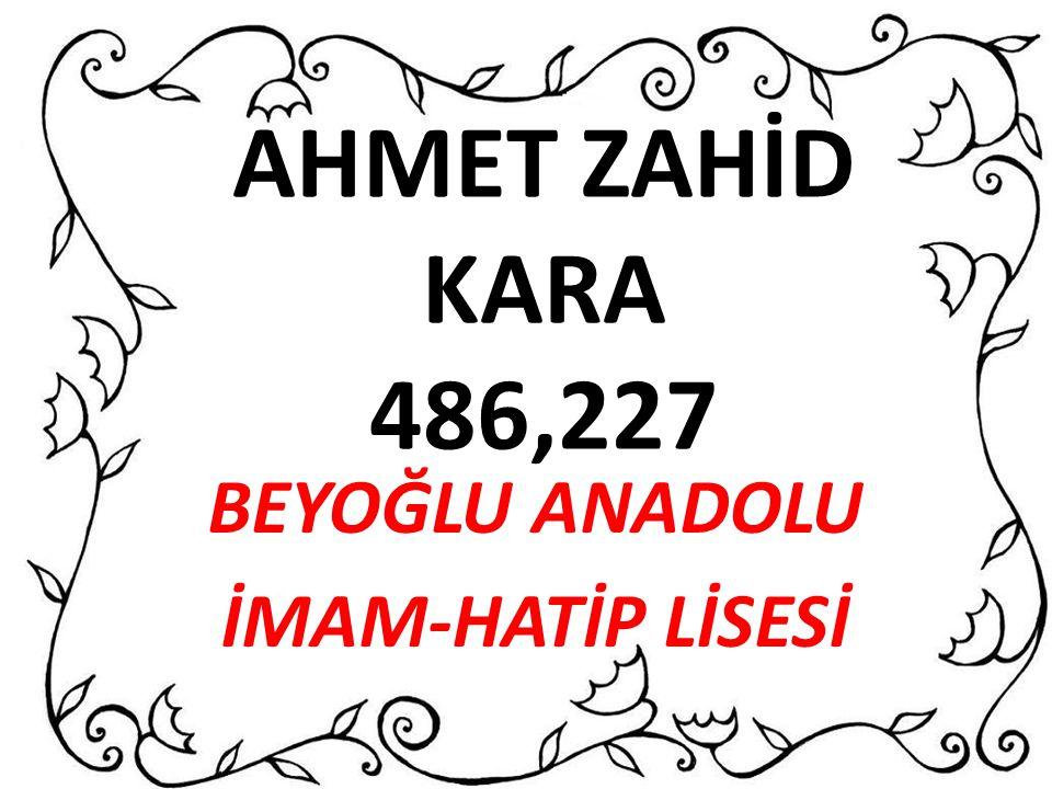 ELİF SEVDE KAYA 452,564 TEVFİK İLERİ ANADOLU İMAM HATİP LİSESİ