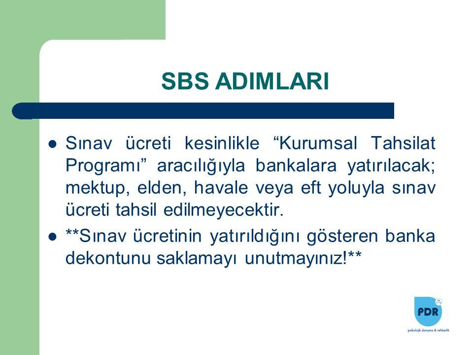 """Sınav ücreti kesinlikle """"Kurumsal Tahsilat Programı"""" aracılığıyla bankalara yatırılacak; mektup, elden, havale veya eft yoluyla sınav ücreti tahsil ed"""