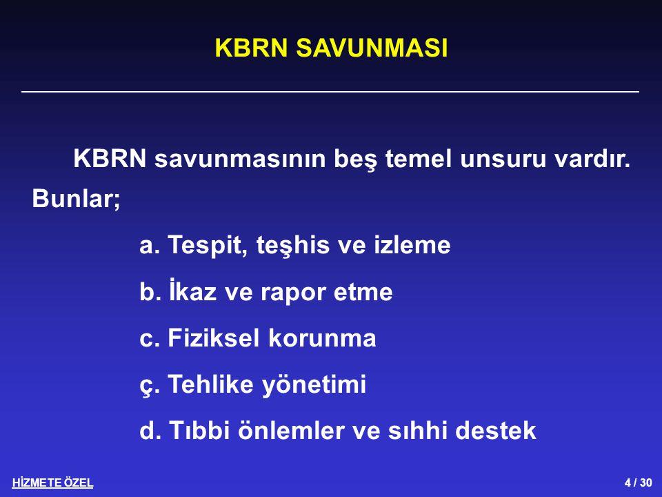 HİZMETE ÖZEL 25 / 30 Hastane tıbbi KBRN astsubayı; a.