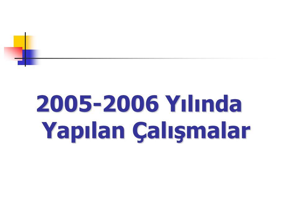 2005-2006 Yılında Yapılan Çalışmalar
