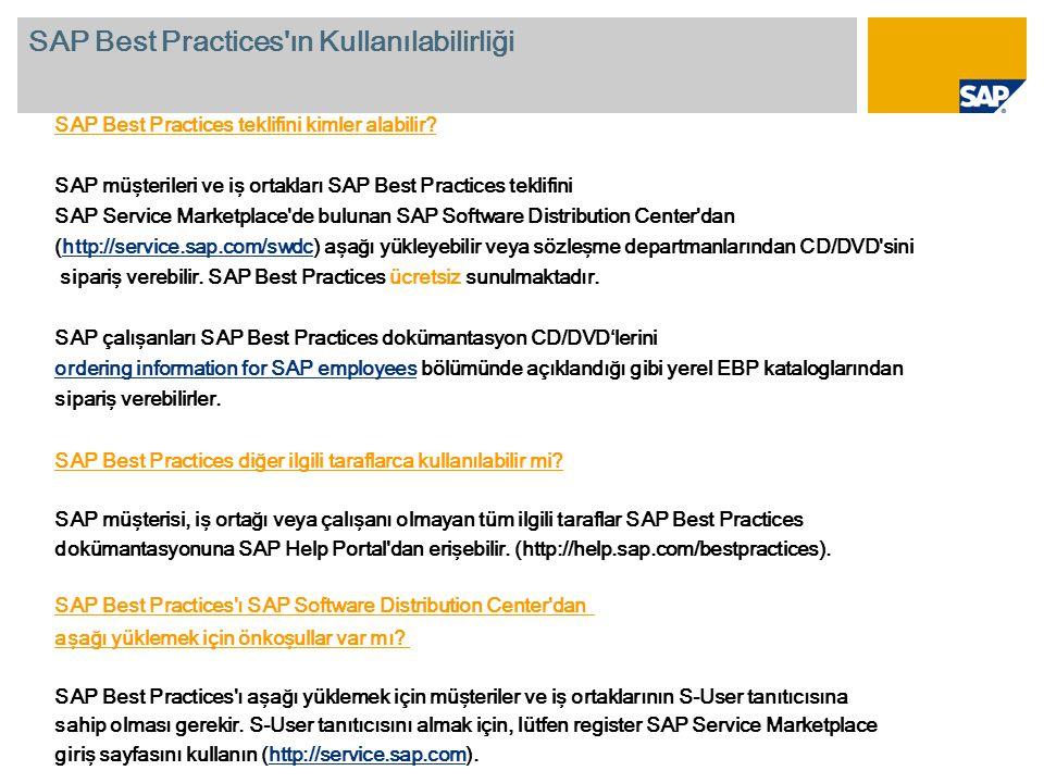 SAP Best Practices teklifini kimler alabilir.