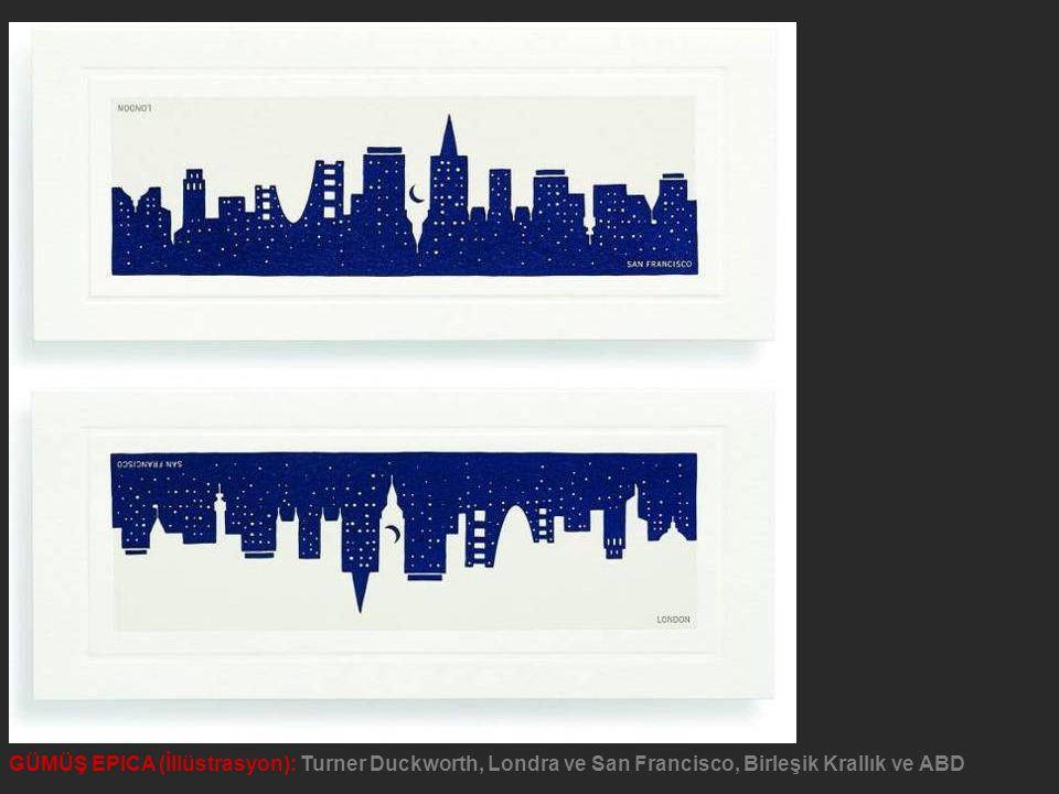 GÜMÜŞ EPICA (İllüstrasyon): Turner Duckworth, Londra ve San Francisco, Birleşik Krallık ve ABD