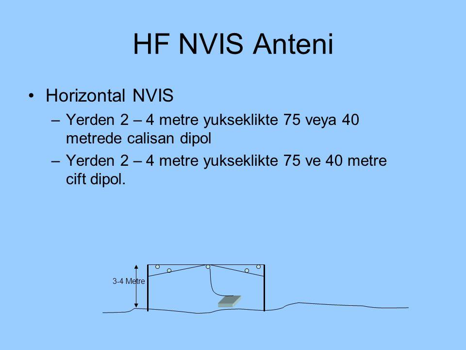 HF NVIS Anteni Horizontal NVIS –Yerden 2 – 4 metre yukseklikte 75 veya 40 metrede calisan dipol –Yerden 2 – 4 metre yukseklikte 75 ve 40 metre cift di
