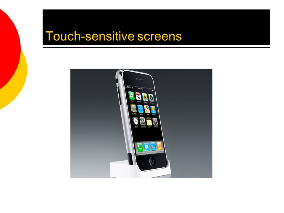 Touch-sensitive screens
