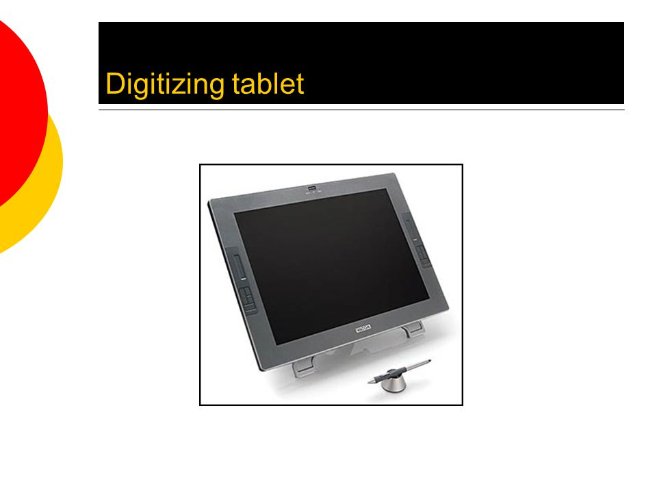 Digitizing tablet