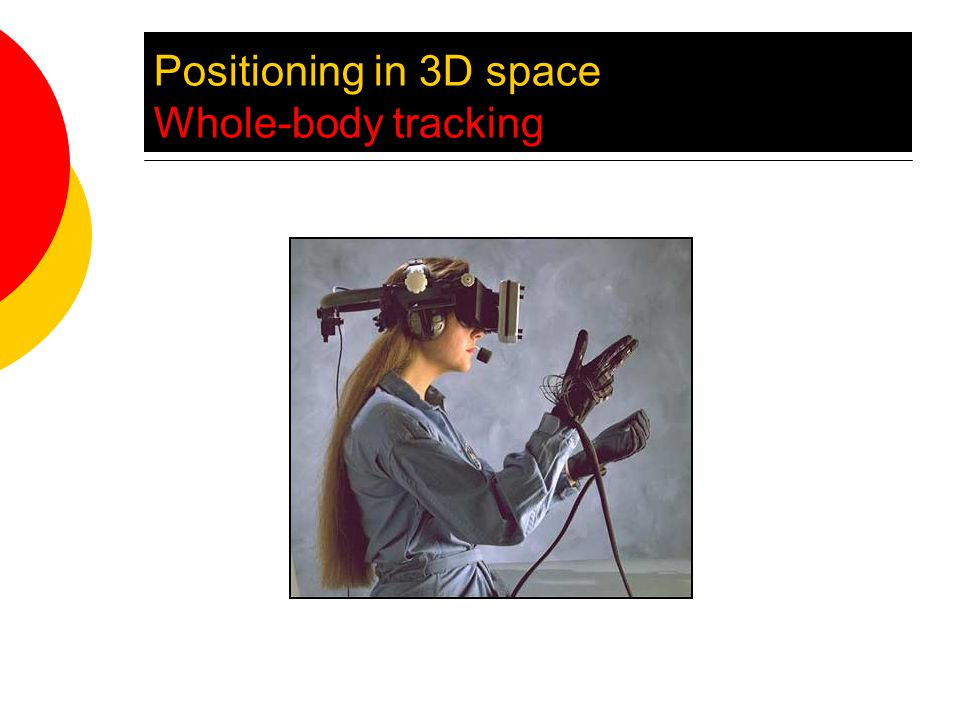 Positioning in 3D space Whole-body tracking