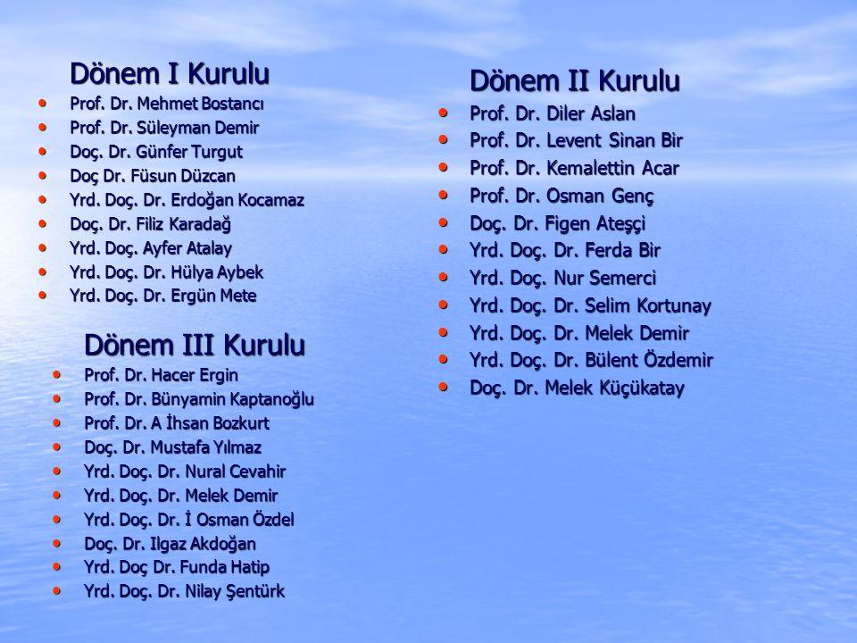 Dönem I Kurulu Prof.Dr. Mehmet Bostancı Prof. Dr.