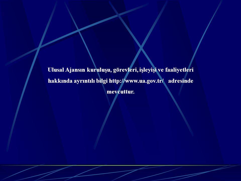 Ulusal Ajansın kuruluşu, görevleri, işleyişi ve faaliyetleri hakkında ayrıntılı bilgi http://www.ua.gov.tr/ adresinde mevcuttur.