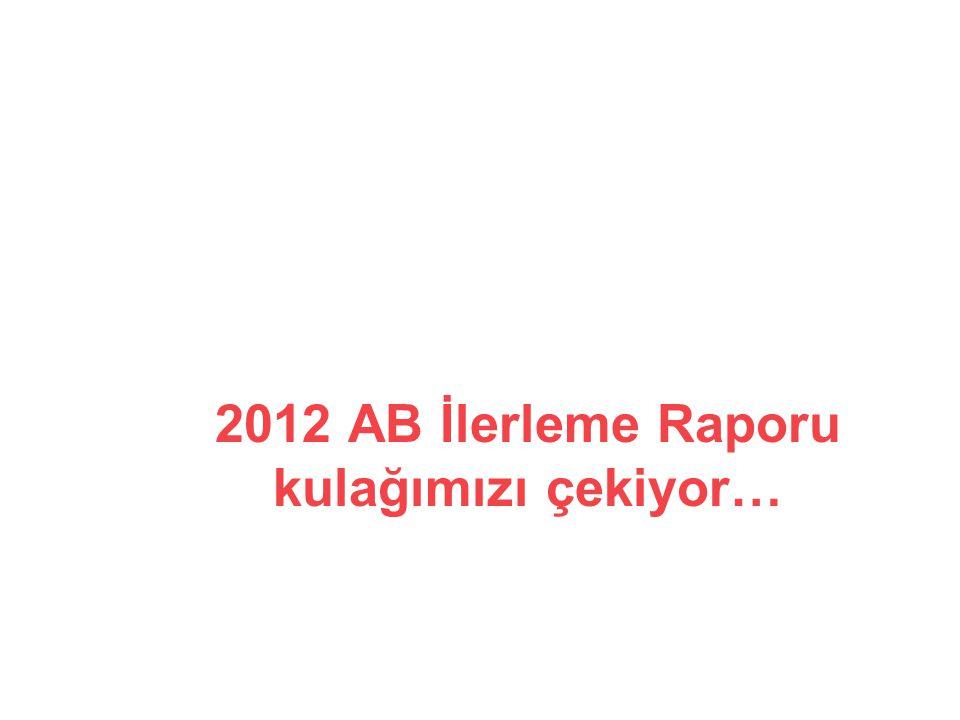 2012 AB İlerleme Raporu kulağımızı çekiyor…